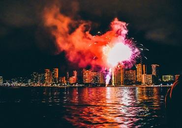 Fireworks Sail- Waikiki image 2