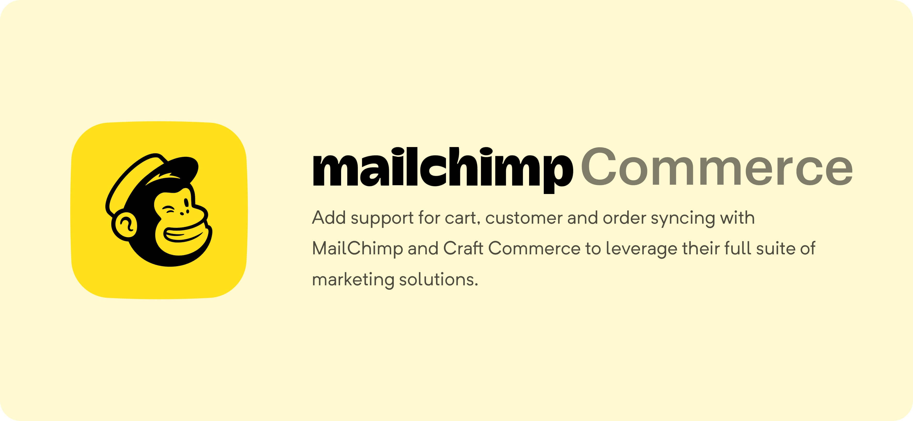 Mailchimp Commerce