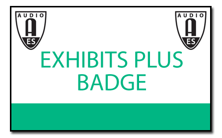 AES 2018 badge EXHIBITS PLUS