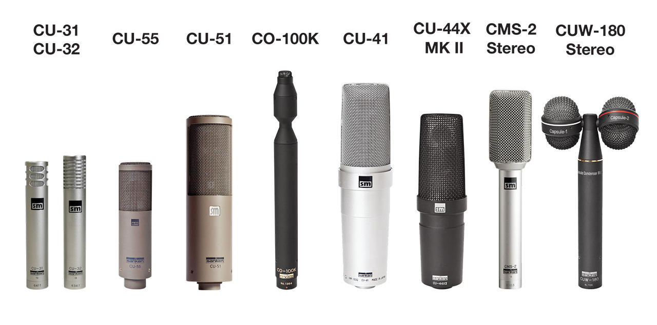 Sanken Chromatic Product Range 9 Mics