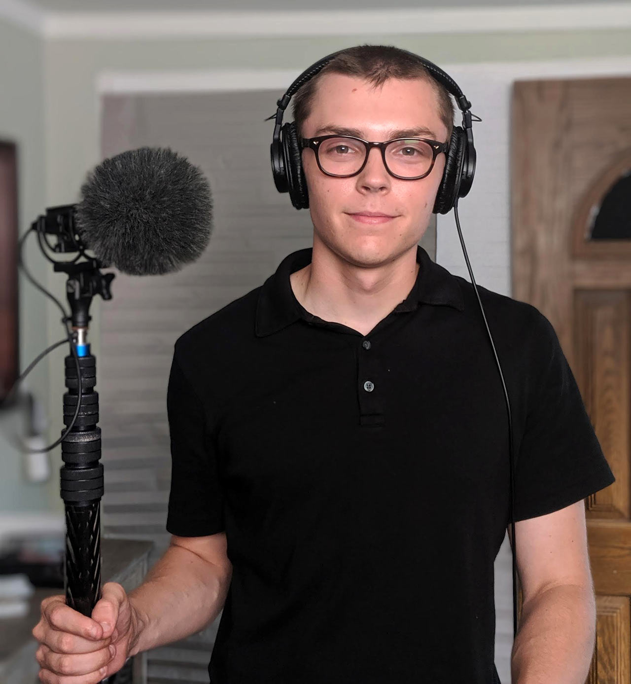 Ian Orlando with Sanken CS-M1 Shotgun Mic