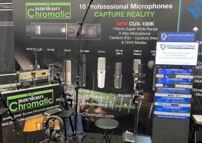 Sanken Chromatic Booth with range of music mics available for demo.