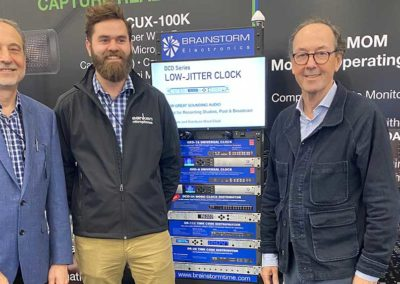 Jim Pace and Peter Hannigan from plus24, and Bernard Frings with Brainstorm Sync Solutions