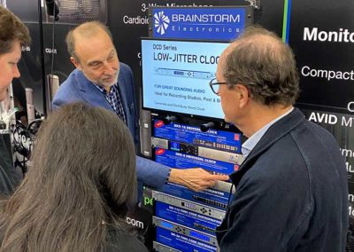 Jim Pace and Bernard Frings demoing the DXD-8 Universal Clock