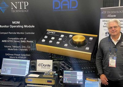 Kurt Howell from NTP Technology on the DAD booth