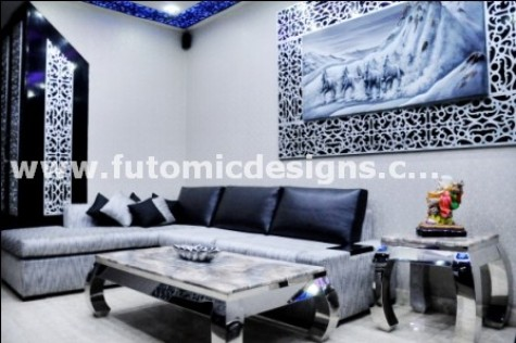 Monochromic Drawing Room