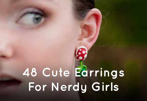 48 Cute Earrings for Nerdy Girls