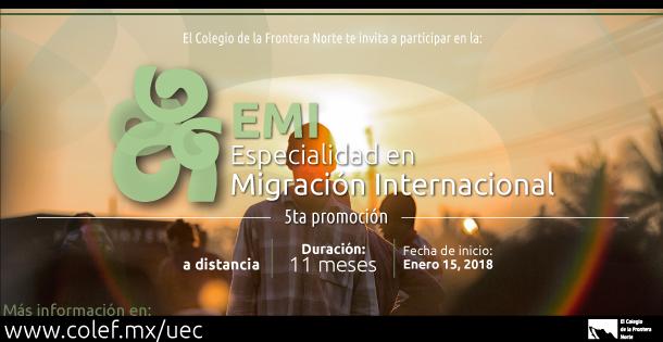 Banner Especialidad en Migración Internacional 6 nov