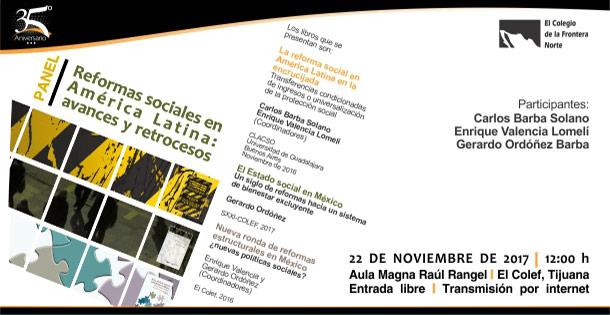 Banner PANEL PARA PRESENTACIONES DE LIBROS  Reformas sociales en América Latina: avances y retrocesos (10)