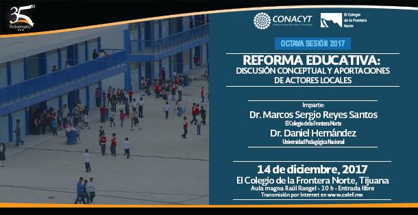 Banner SEMINARIO RSTA  Reforma educativa: Discusión conceptual y aportaciones de actores locales