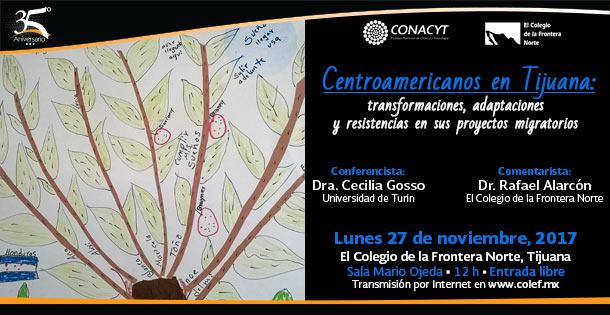 Banner CONFERENCIA  Centroamericanos en Tijuana: transformaciones, adaptaciones y resistencias en sus proyectos migratorios