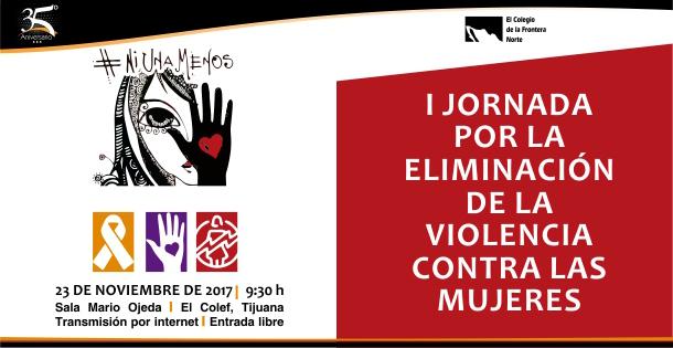Banner EN EL MARCO DEL DÍA INTERNACIONAL DE LA ELIMINACIÓN DE LA VIOLENCIA CONTRA LAS MUJERES  I jornada por la eliminación de la violencia contra las mujeres