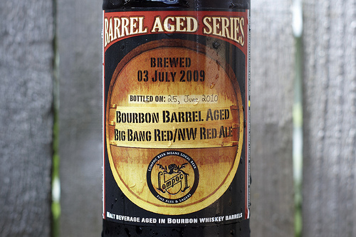 Bourbon Barrel Aged Big Bang Red, Lompoc Brewing