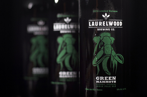 Green Mammoth Imperial IPA from Laurelwood Brewing