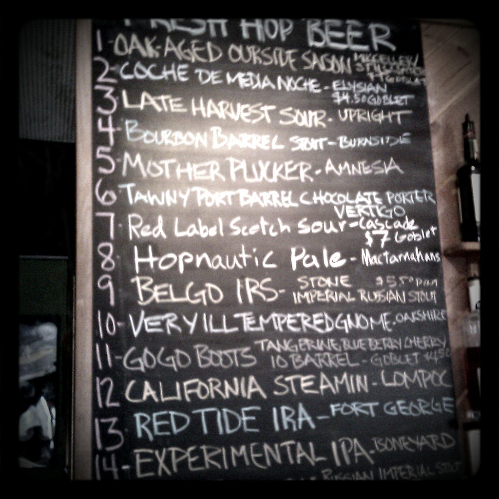 Roscoe's Killer Beer Summit Beer List