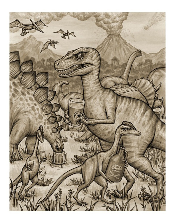 Dinosaur Party by Keith Carter