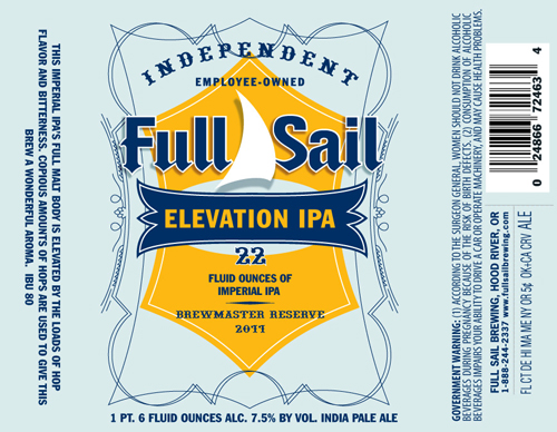 Full Sail Elevation Imperial IPA