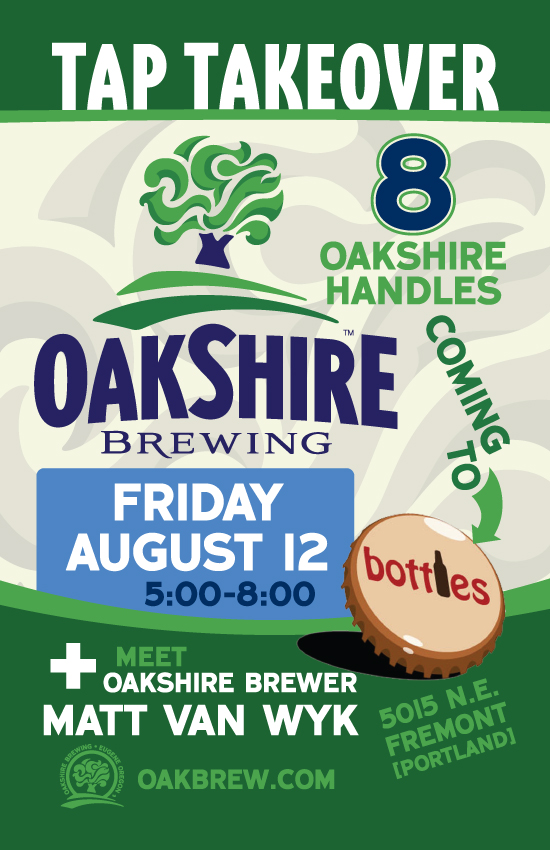 Oakshire Tap Takeover at Bottles in PDX