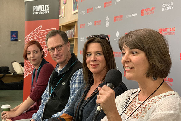 Directors Coffee Chat at Powell's Books during the 2018 Portland Film Festival