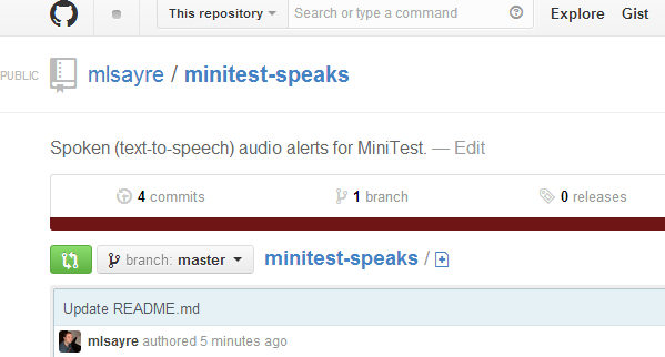 Minitestspeaks