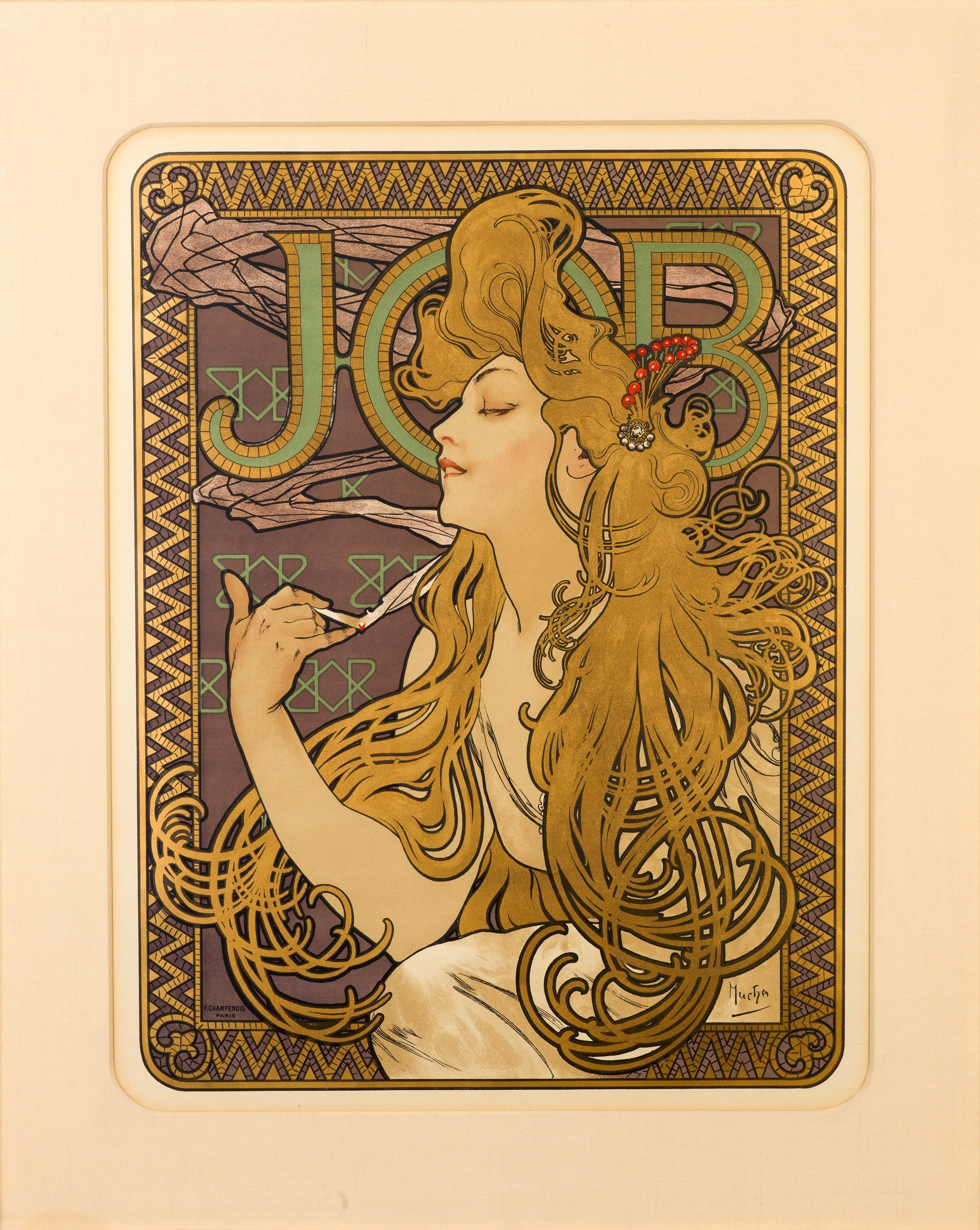 3 Job By Alphonse Mucha 1896