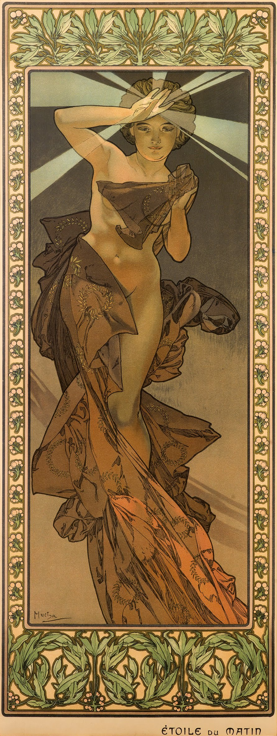 4 Étoile Du Matin From The Stars Series By Alphonse Mucha 1902