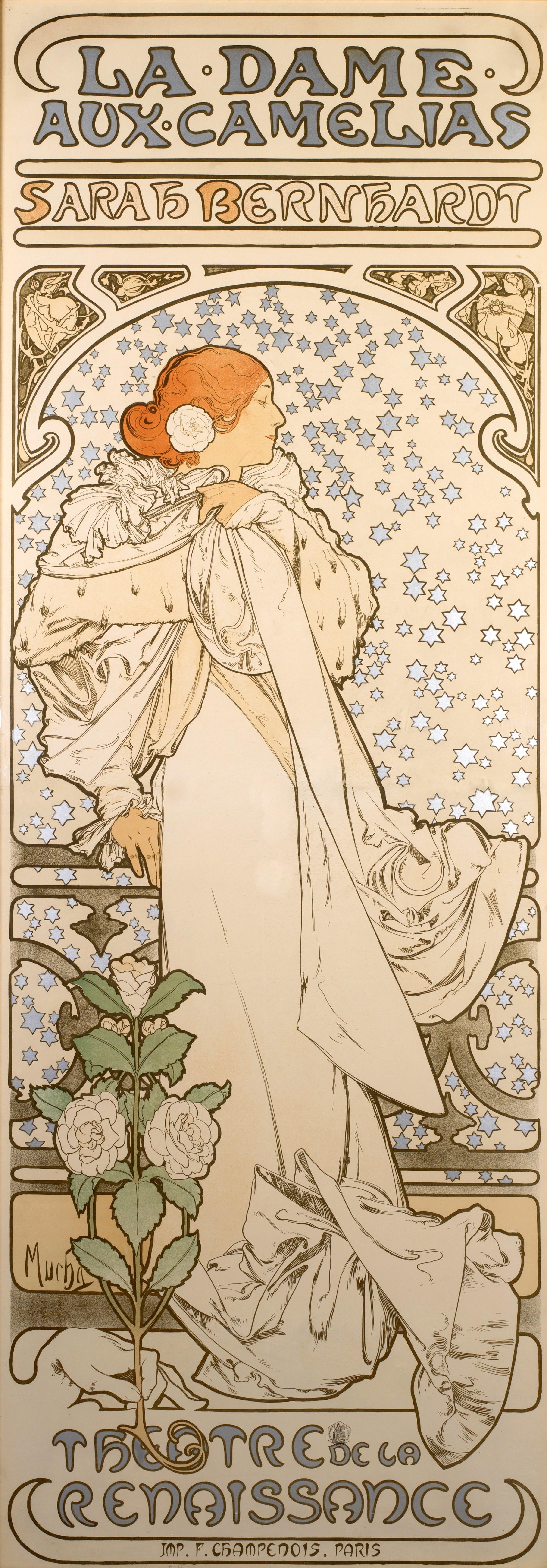 6 La Dame Aux Camélias By Alphonse Mucha 1896
