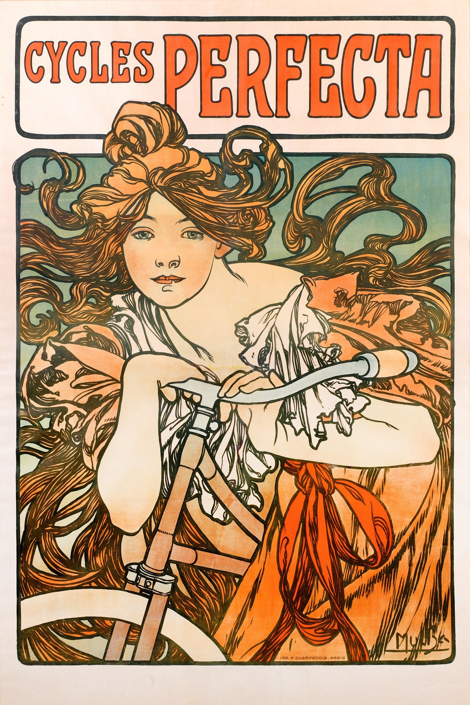 8 Cycles Perfecta By Alphonse Mucha 1902