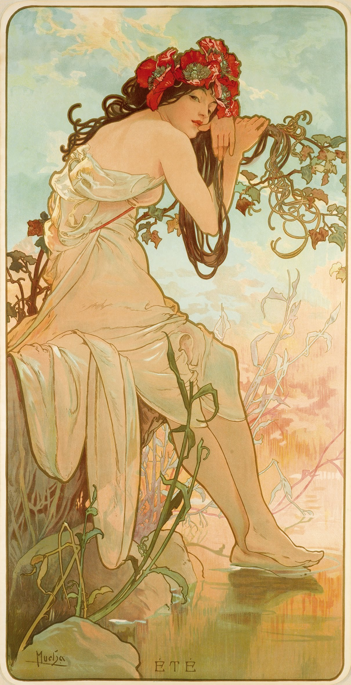 9 Été From The Seasons Series By Alphonse Mucha 1896