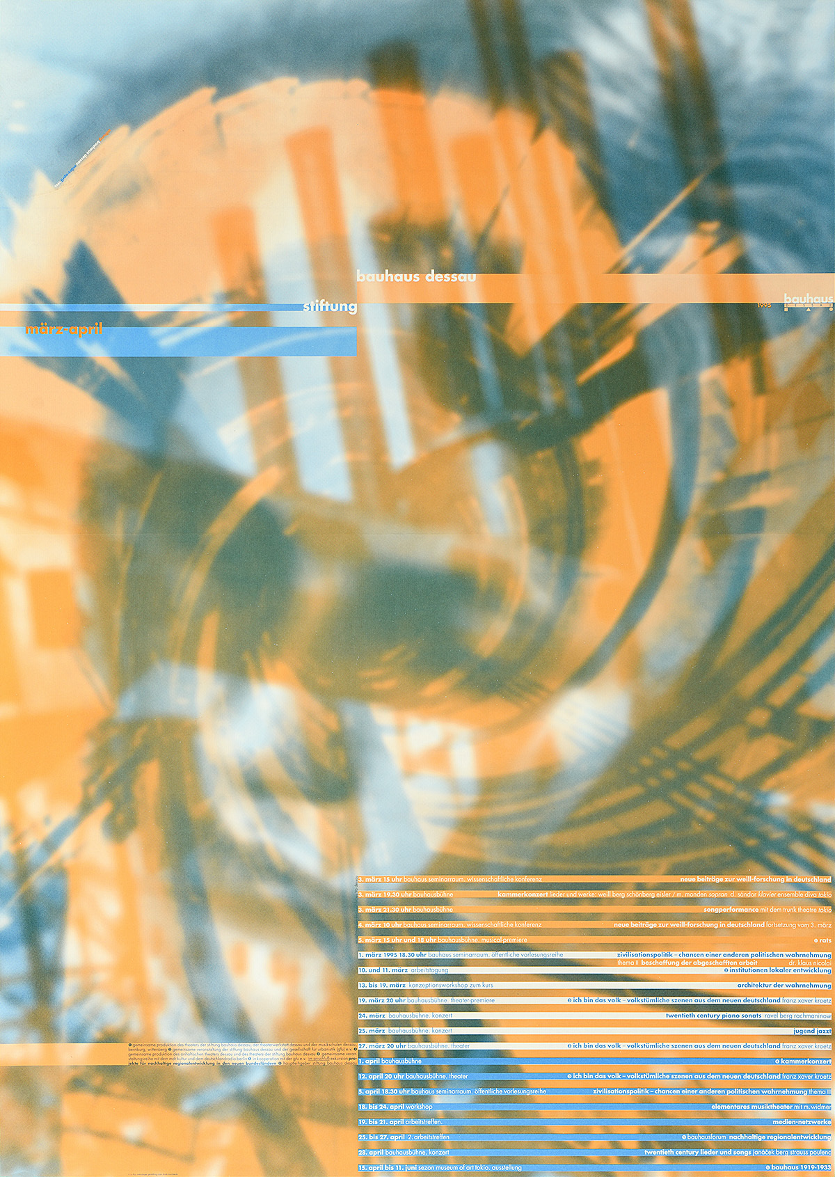 Bauhaus Program März April By Cyan 1995
