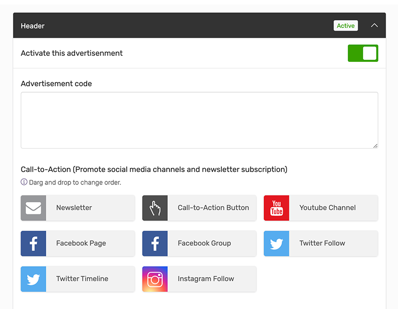 Promote your social media accounts and grow your email list
