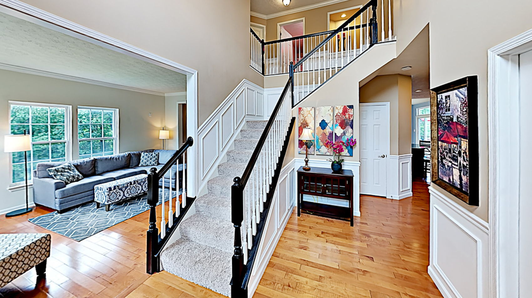 Two story entry