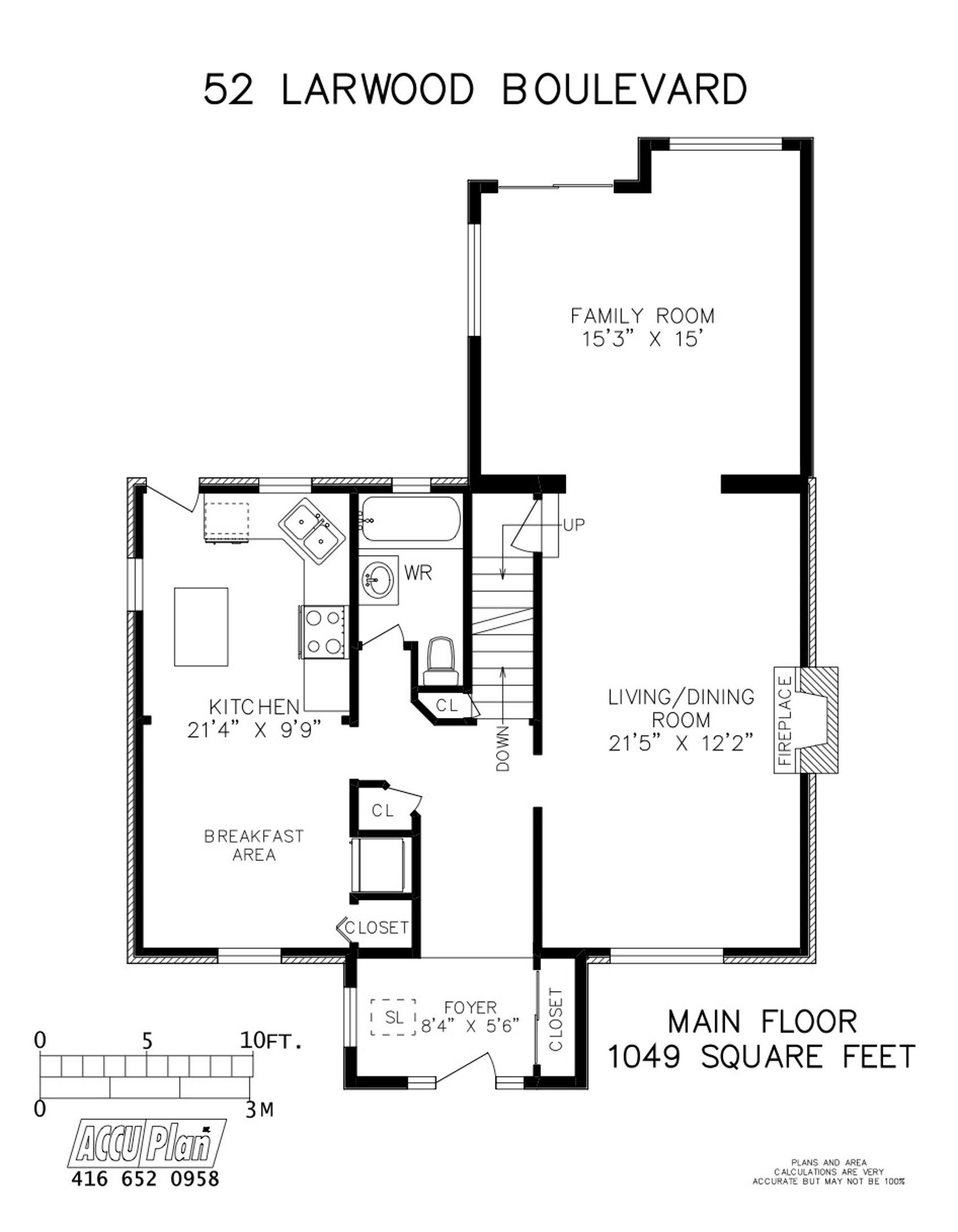 52 Larwood Blvd - Main Floor