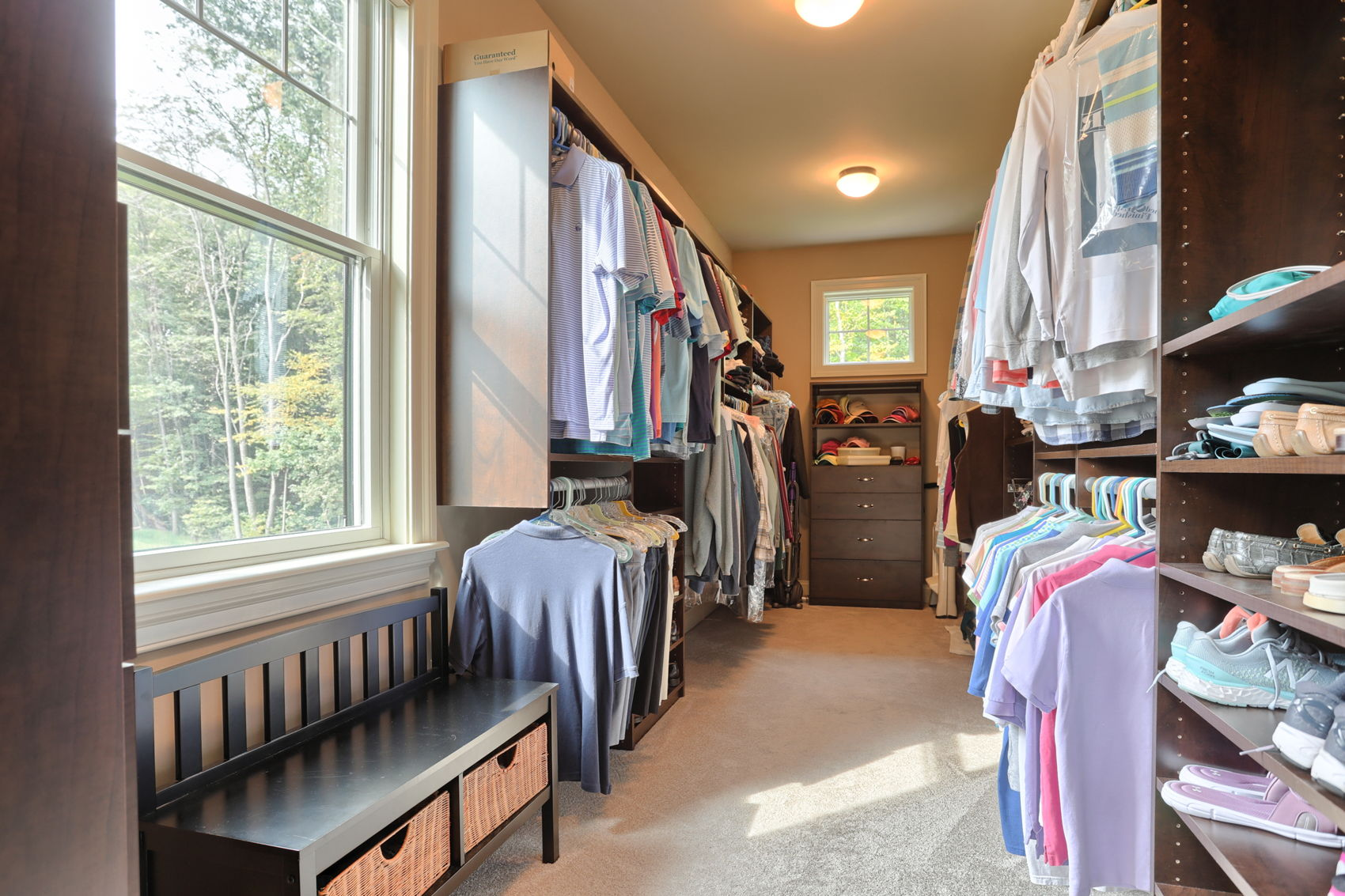 Primary Walk-in closets
