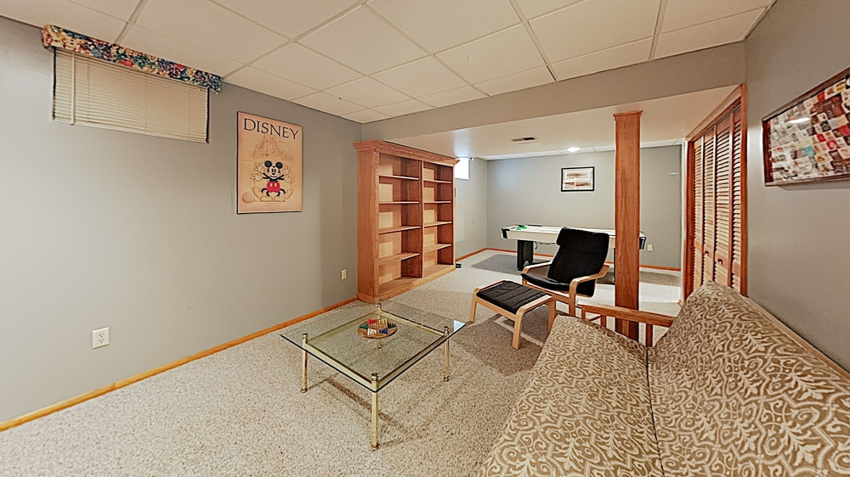 Game Room with built-ins