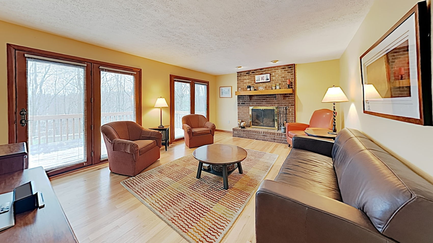 Family Room with hardwood flooring
