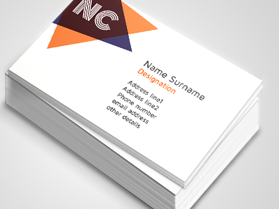 Free one-sided business cards designs - Printivo