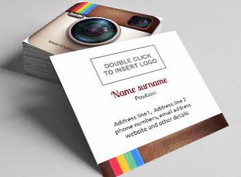 Free square business cards 2 sided designs Printivo