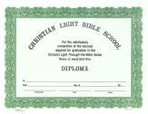Bible school diploma