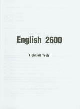 English 2600 lu tests
