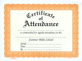 Sbs certificate of attendance