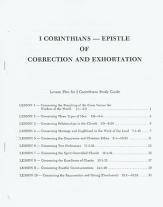 I corinthians epistle of correction and exhortation study guide