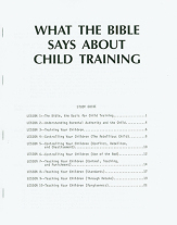 What the bible says about child training study guide