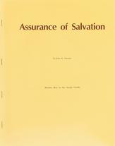 Assurance of salvation study guide ak