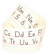 Manuscript alphabet desk strip