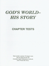 God s world his story tests