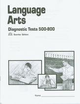 Language arts diagnostics tests 500 800