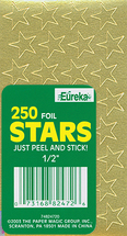 Star stickers gold
