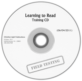 Learning to read training cd