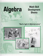 Algebra math skill development sheets